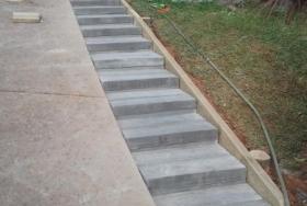 Наружная мостовая монолитная лестница