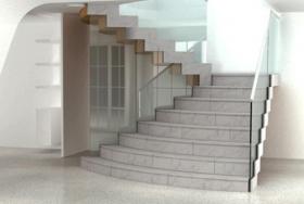 Монолитная лестница в офисном центре