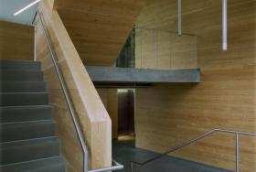 Дизайн проект бетонной лестницы со вставками дерева