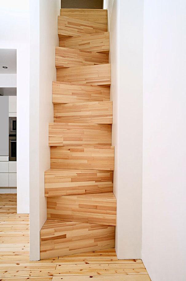Креативный дизайн бетонной лестницы